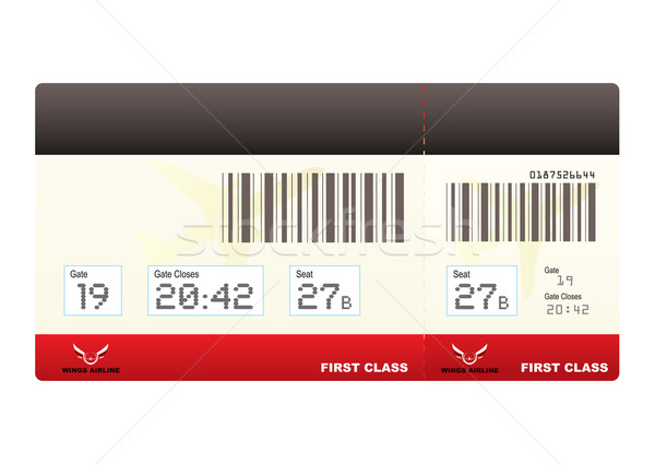 Flugzeug Tickets First-Class- Ticket Einschiffung Stock foto © nicemonkey