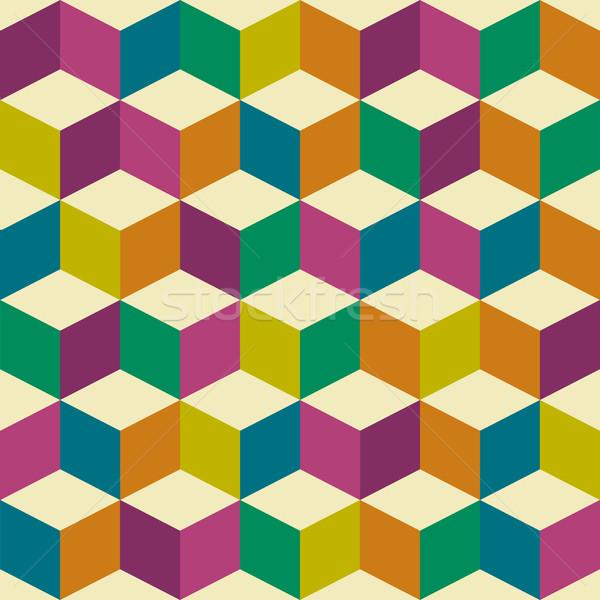 Optische zeventig naadloos herhalen tegel abstract Stockfoto © nicemonkey