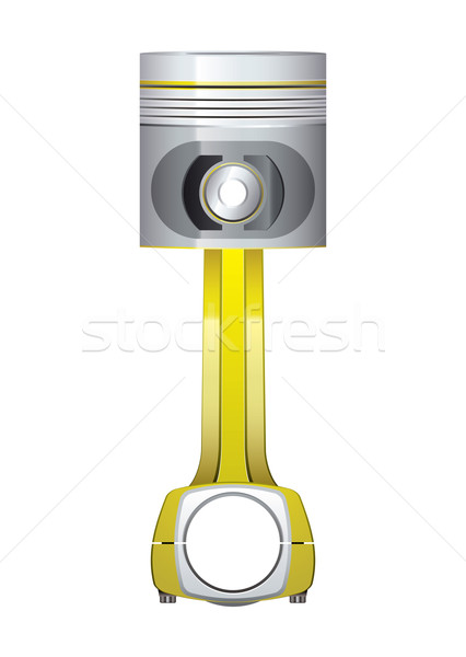 Pistone oro motore argento metal aggiornare Foto d'archivio © nicemonkey