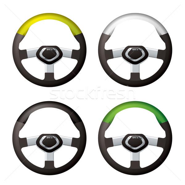 Steering wheel collection Stock photo © nicemonkey