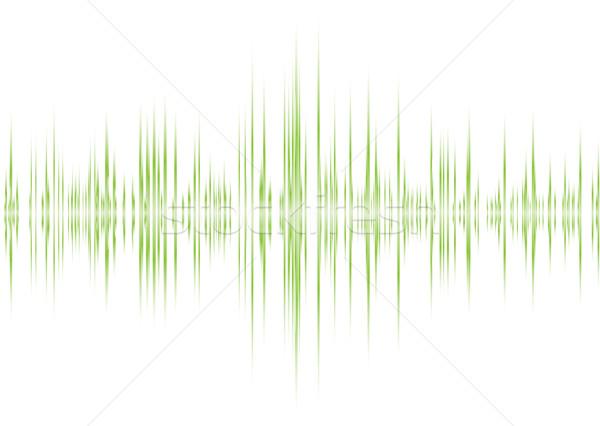Alfa verde música gráfico branco abstrato Foto stock © nicemonkey
