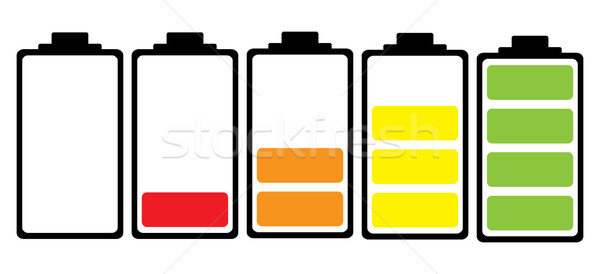 Batteria colore icona semplice illustrato colorato Foto d'archivio © nicemonkey