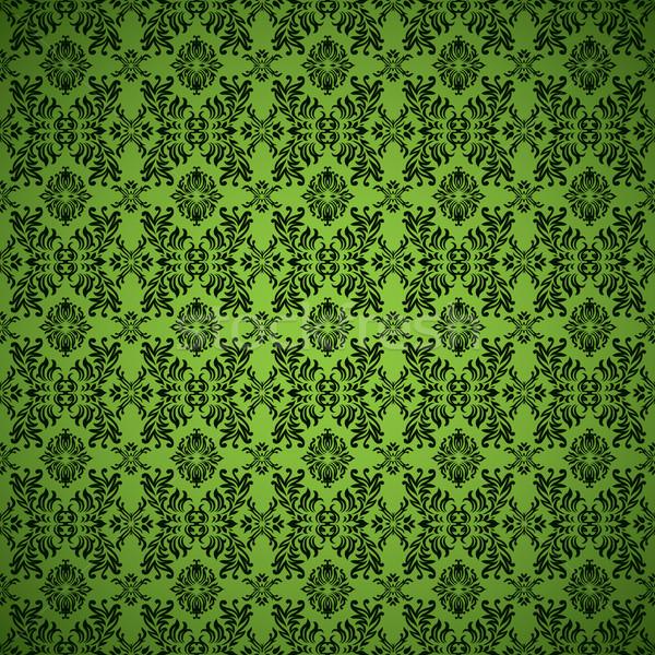 gothic seamless green wallpaper Stock photo © nicemonkey