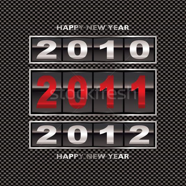 2011 炭素繊維 変更 幸せ 新しい 年 ストックフォト © nicemonkey