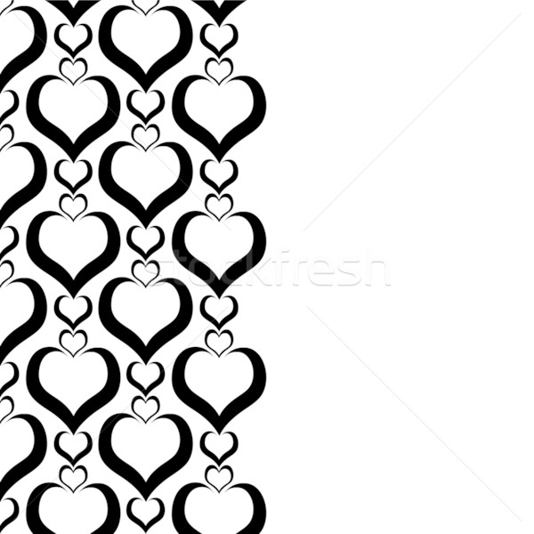 Stock photo: love border