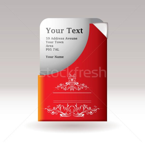 Modern kártya virágmintás klasszikus terv alkotóelem Stock fotó © nicemonkey