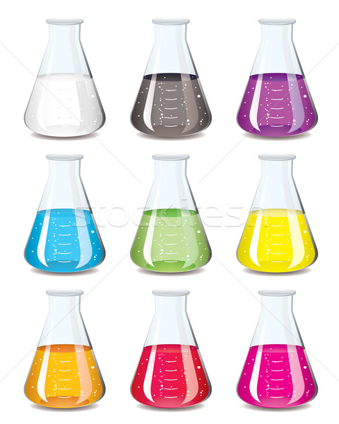 chemistry flask collection Stock photo © nicemonkey