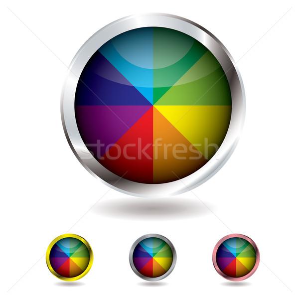 Ballon de plage bouton métal orange web Photo stock © nicemonkey