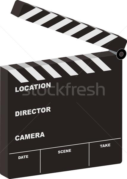 Film 3D open bordo stanza proprio Foto d'archivio © nicemonkey