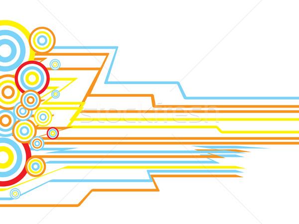 Inca cirkel abstract ontwerp beïnvloeden kunst Stockfoto © nicemonkey