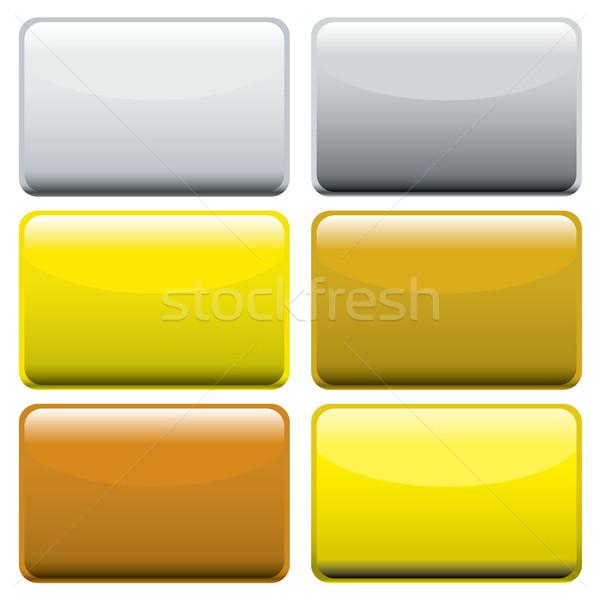 metallic oblong web buttons Stock photo © nicemonkey
