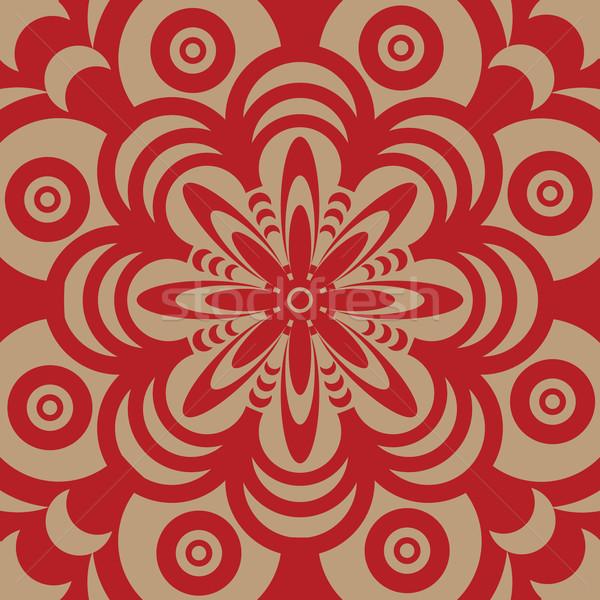 60年代 壁紙 デザイン 抽象的な 図示した ブラウン ストックフォト © nicemonkey