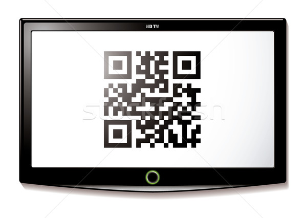 LCD tv qr code scanner modernes identification Photo stock © nicemonkey