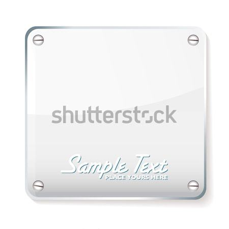 Glass company name plate Stock photo © nicemonkey