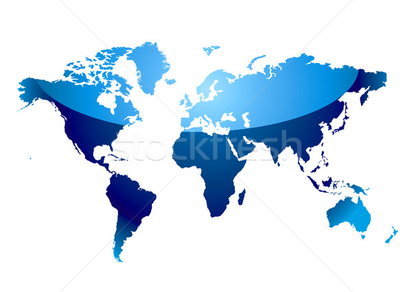 world map reflect blue Stock photo © nicemonkey