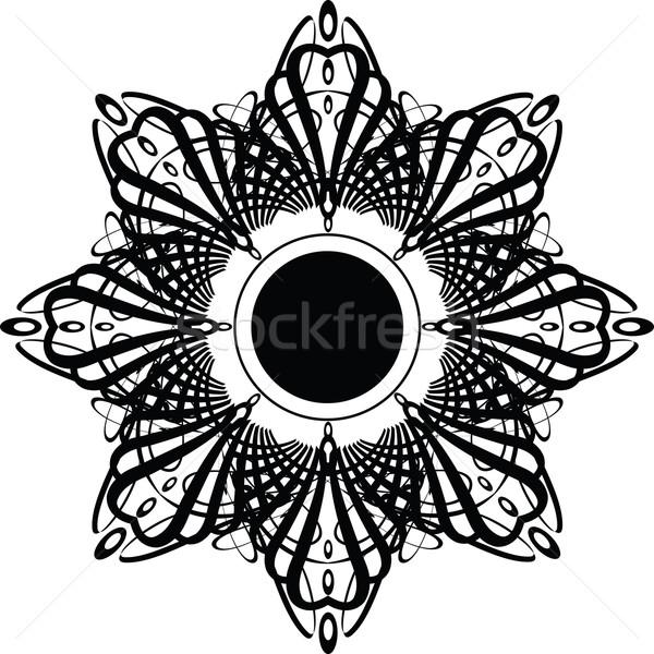 гот корона звездой Готский дизайна цветочный Сток-фото © nicemonkey