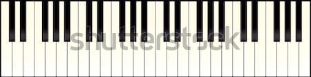 piano keyboard long Stock photo © nicemonkey