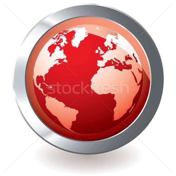 red icon earth globe Stock photo © nicemonkey