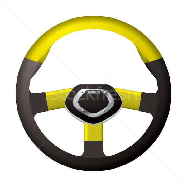 Sports steering gold wheel Stock photo © nicemonkey