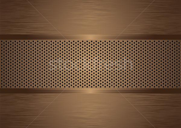 Bronze résumé métal texture fond plaque Photo stock © nicemonkey