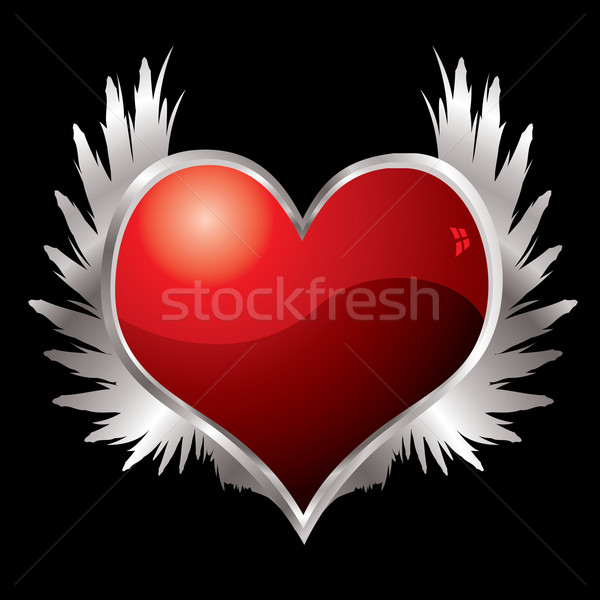 love heart wings Stock photo © nicemonkey