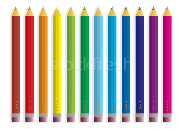 rainbow pencil Stock photo © nicemonkey