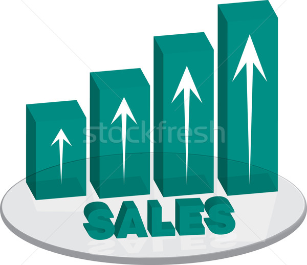 sales plinth green up text Stock photo © nicemonkey
