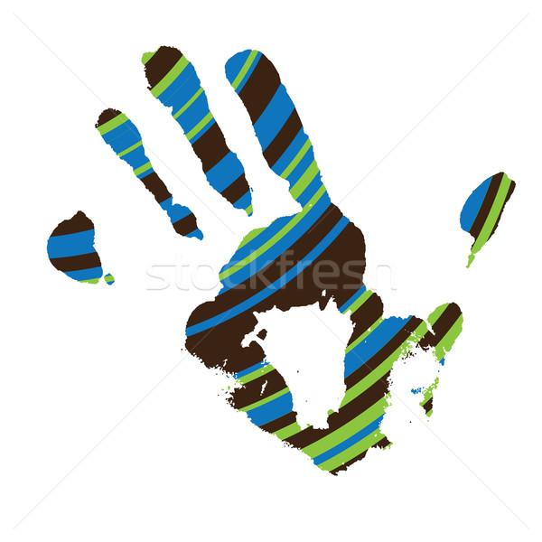 stripe hand Stock photo © nicemonkey