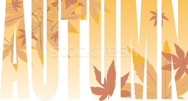 autumn text Stock photo © nicemonkey