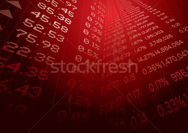 Finansowych prognoza działalności ilustracja giełdzie Zdjęcia stock © nicemonkey