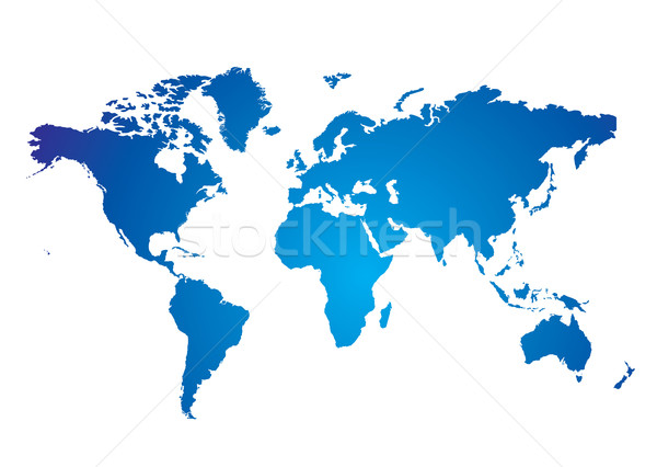 Carte du monde bleu blanche illustré affaires texture Photo stock © nicemonkey