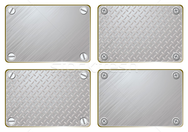 metal name plate Stock photo © nicemonkey