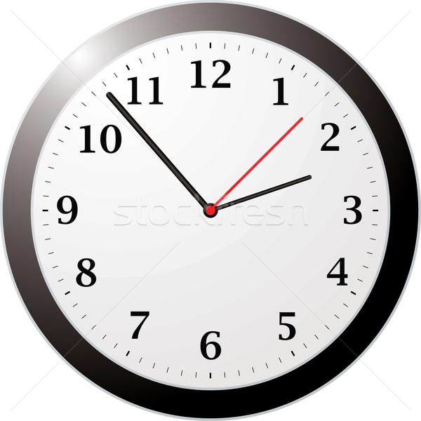 Kantoor klok geïllustreerd gemakkelijk lezen Stockfoto © nicemonkey