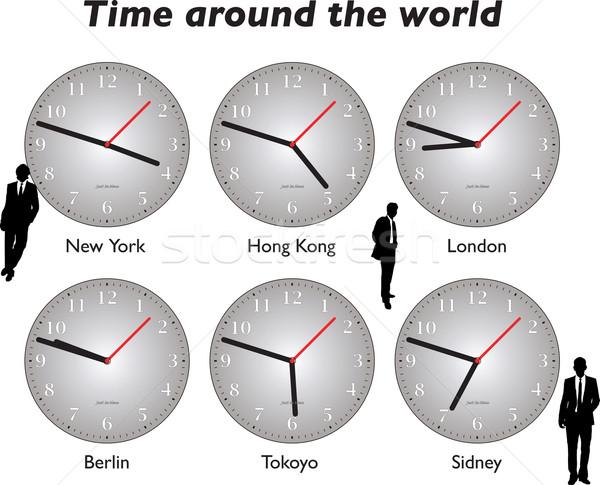 time around the world business Stock photo © nicemonkey
