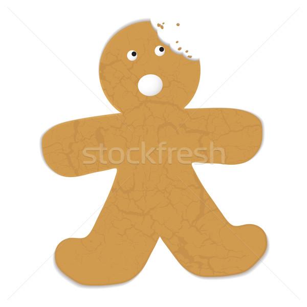 Gingerbread man morder fora cabeça sorrir triste Foto stock © nicemonkey