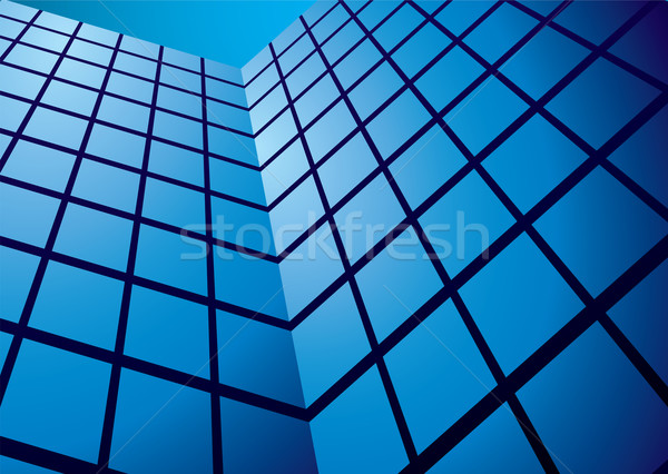 office building reflection wide Stock photo © nicemonkey