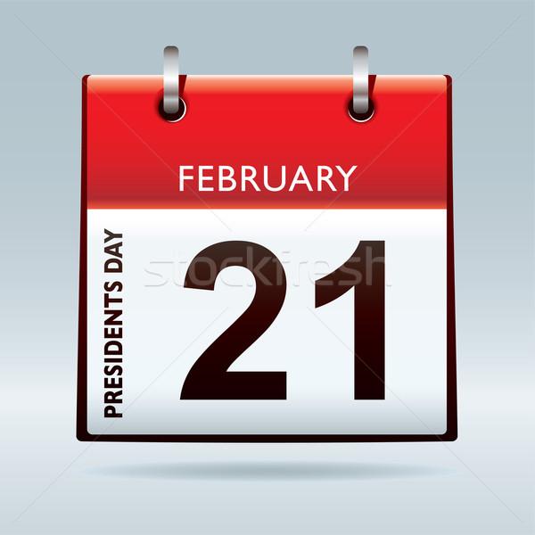 Dag kalender Rood icon amerikaanse ontwerp Stockfoto © nicemonkey