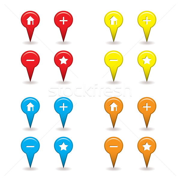 map pin icon Stock photo © nicemonkey