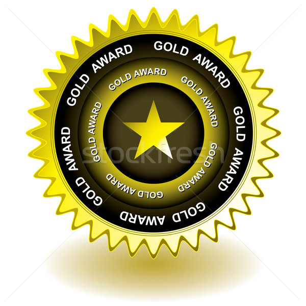 gold award icon Stock photo © nicemonkey