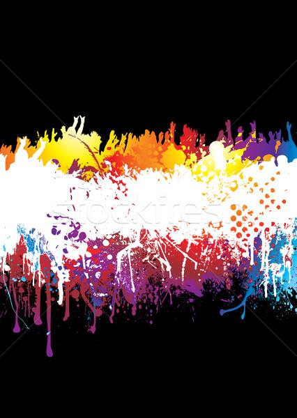 rainbow splat crowd Stock photo © nicemonkey