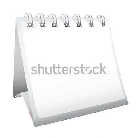 Blank desk calendar Stock photo © nicemonkey