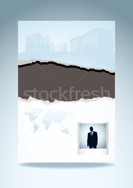 Rip torn template page Stock photo © nicemonkey