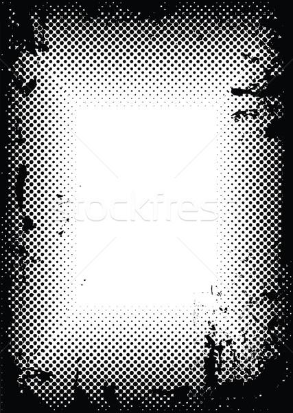 grunge halftone border Stock photo © nicemonkey