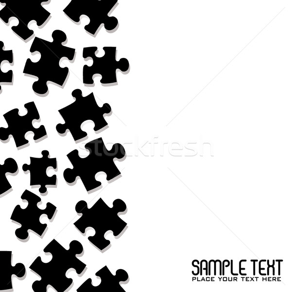 Stock photo: puzzle border