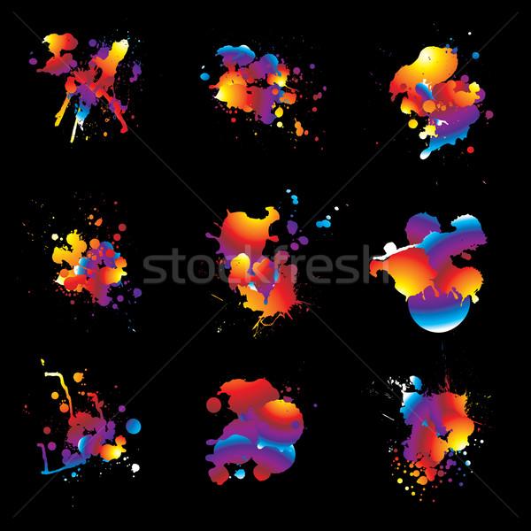 rainbow splat nine Stock photo © nicemonkey