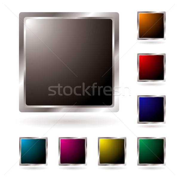 silver bevel icon Stock photo © nicemonkey