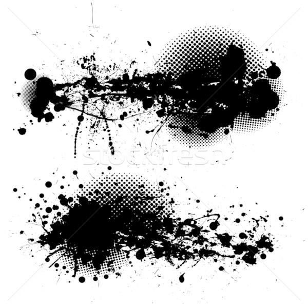 grunge ink splat pair Stock photo © nicemonkey