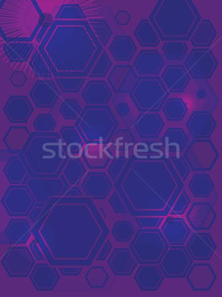 hexa gone flash purple Stock photo © nicemonkey