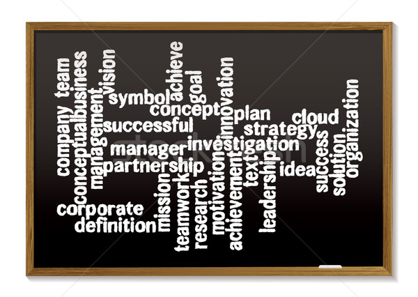 Chalk board word tag cloud Stock photo © nicemonkey