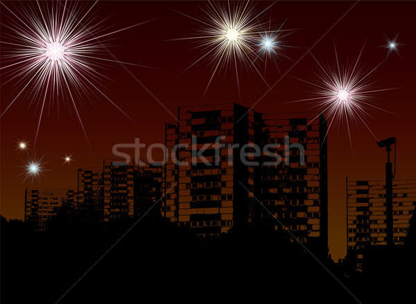 new year fireworks Stock photo © nicemonkey